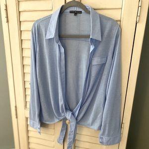 CYC Blue Tie Front Shirt